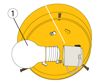 A schematic of a ceiling fixture.