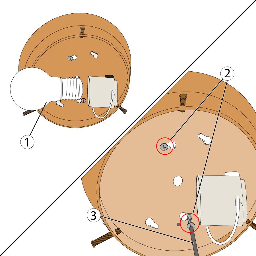 Loosen the fixture retaining screws.