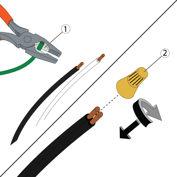 Strip the wires and use wire nuts on them.
