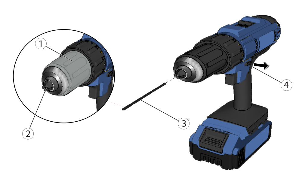 Here's how to put a bit into the drill.