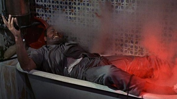 James Bond fries a guy in a bathtub because there was not GFCI plug.