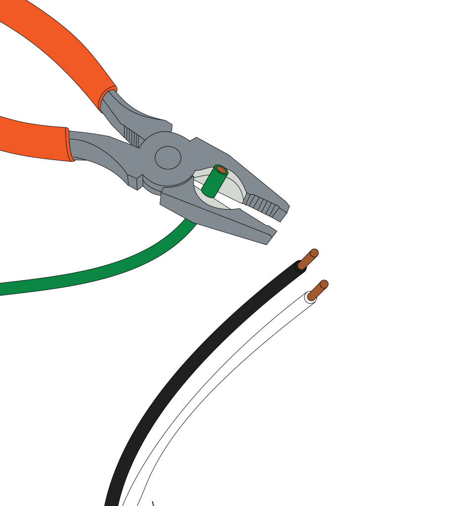 A pair of linesman's pliers are great for stripping wires.