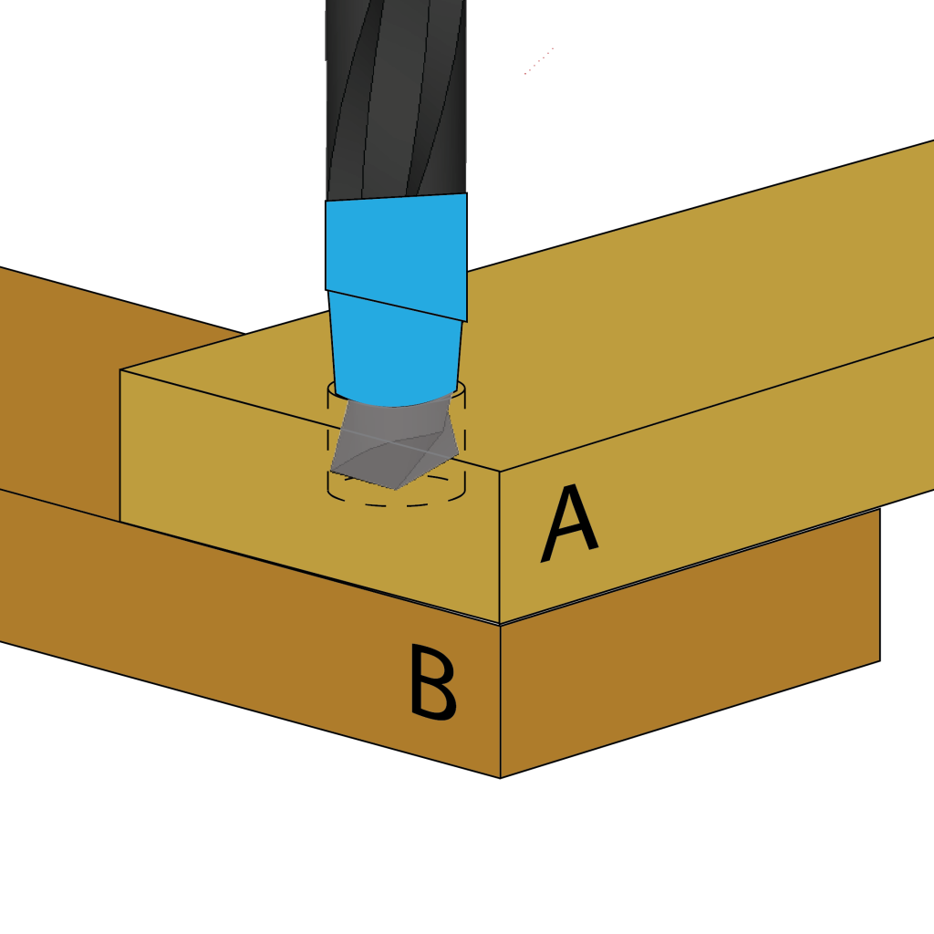 Use a larger drill bit, marked with a bit of masking tape, to make the countersink.