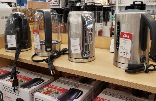 Hot water makers comes in  a wide variety of options and prices. This selection ranges from $29 to $71!